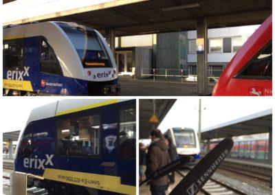 Betriebsaufnahme der Bahnstrecke Braunschweig - Gifhorn - Uelzen der erixx GmbH im Braunschweiger Hauptbahnhof